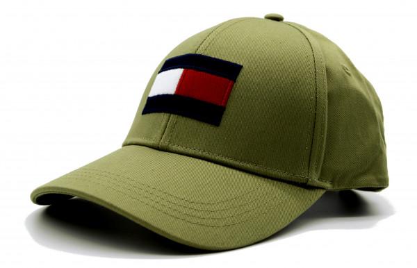 TOMMY HILFIGER - Baseball Cap Big Flag Olive