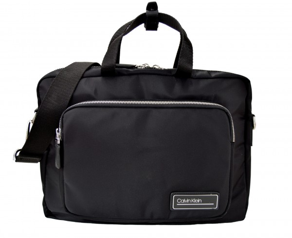 CALVIN KLEIN - Primary Gusset Laptoptasche Nylon Schwarz