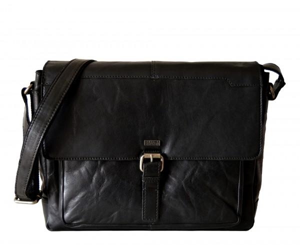 SPIKES & SPARROW - Business Messenger Bag SA-2240-NA Leder Schwarz