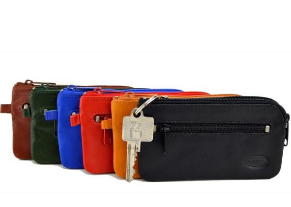 BRANCO - Schlüsseletui mit Zipperfach 018 Leder