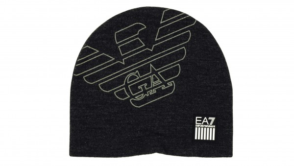 EMPORIO ARMANI EA7 - Strickmütze Train Eagle Beanie Hat Grau