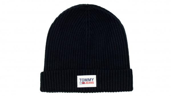 TOMMY JEANS - TJM Patch Beanie Schwarz