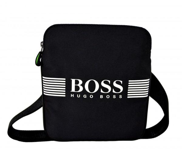 HUGO BOSS - Green Pixel S Zip Umhängetasche Nylon Schwarz