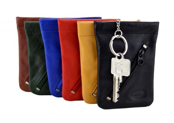 BRANCO - Schlüsseletui mit Zipperfach 011 Leder