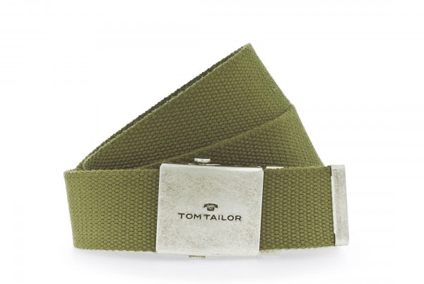 TOM TAILOR - TG1002B06 Gürtel Herren Stoff Olive