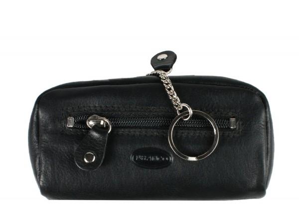 BRANCO - XL Schlüsseletui mit Münzfach 025 Leder Schwarz
